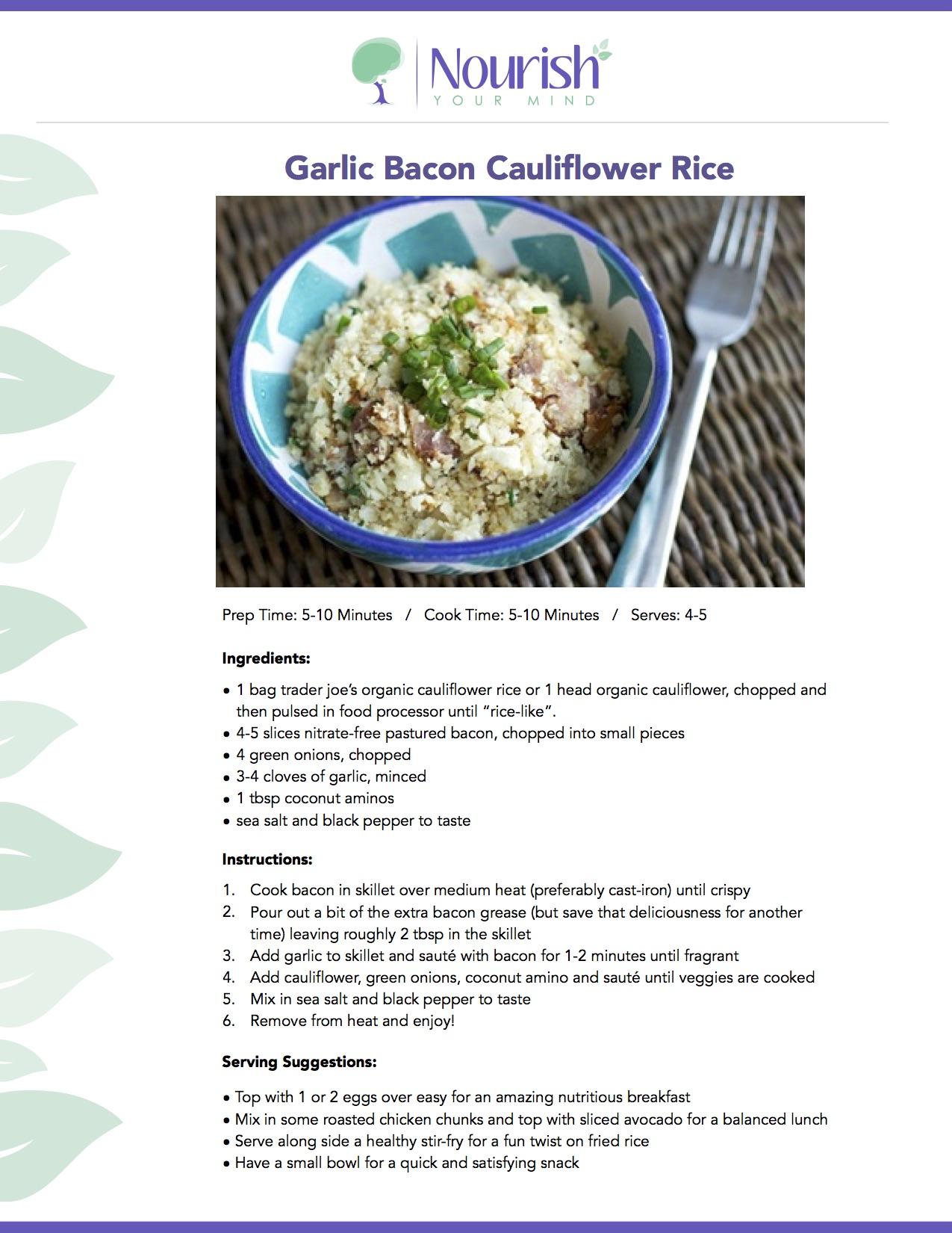 garlic bacon rice